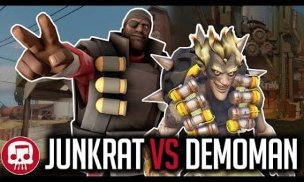 JUNKRAT VS DEMOMAN RAP BATTLE by JT Music (Overwatch vs TF2)