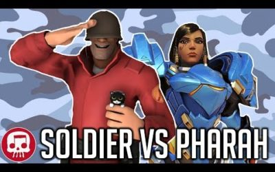 SOLDIER VS PHARAH RAP BATTLE by JT Music (Overwatch vs TF2)