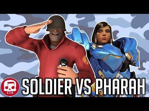 SOLDIER VS PHARAH RAP BATTLE by JT Music (Overwatch vs TF2)