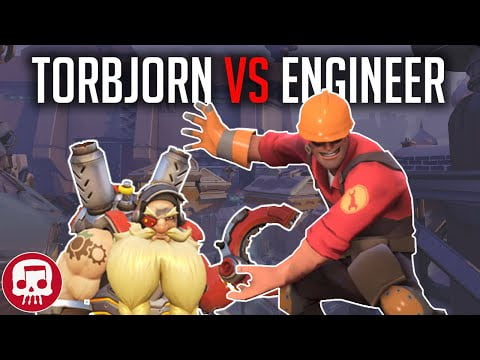 TORBJORN VS ENGINEER RAP BATTLE by JT Music (Overwatch vs TF2)