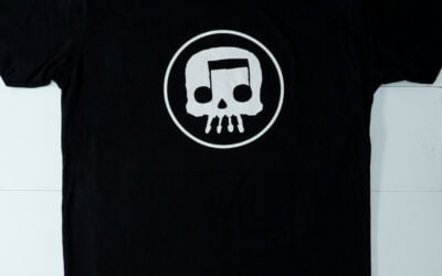 JT Music Skull in Circle Tee